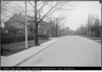 Historic photo from Thursday, April 11, 1918 - Corner of Warren Rd and Clarendon Ave - looking west in South Hill