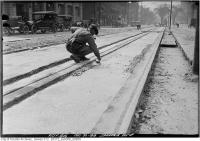 Historic photo from Friday, May 30, 1919 - Spadina Ave. -new track in Chinatown (Spadina Ave)