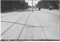 Historic photo from Wednesday, August 27, 1919 - Spadina Ave. trees, cars, and streetcar in Entertainment District