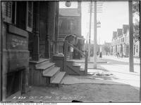 Historic photo from Tuesday, October 7, 1919 - Street life outside181 Baldwin St in Kensington Market