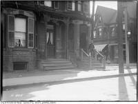 Historic photo from Tuesday, October 7, 1919 - Boy outside 181 Baldwin St  in Kensington Market