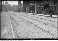Historic photo from Tuesday, June 8, 1920 - Looking south on Ossington down to Queen St in Trinity Bellwoods