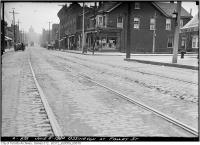 Historic photo from Tuesday, June 8, 1920 - Looking south down Ossington at Foxley St in Trinity Bellwoods