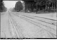 Historic photo from Tuesday, June 8, 1920 - Ossington Ave. at Shannon St looking south in Dufferin Grove