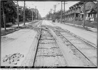 Historic photo from Friday, June 25, 1920 - Gerrard west of Carlaw - track in Leslieville