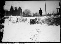 Historic photo from Friday, February 17, 1922 - Drain Lot at northwest corner of Redpath and Erskine in North Toronto