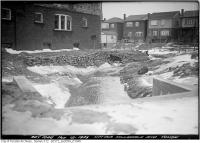 Historic photo from Monday, March 12, 1923 - Culvert at the northwest corner Hillsdale and Yonge in Chaplin Estates