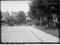 Historic photo from Friday, July 30, 1926 - Southeast corner Browning and Chester - cars, and kids playing with a wagon in The Danforth