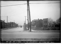 Historic photo from Friday, December 3, 1926 - Northwest corner Broadview and Chester Hill in Playter Estates