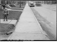 Historic photo from Thursday, April 9, 1936 - 717 Ossington Avenue - boy with attitude in Bickford Park