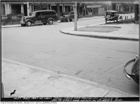 Historic photo from Tuesday, May 11, 1937 - North east corner of Sussex Avenue from Mayor Street in Harbord Village