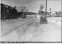Historic photo from Monday, January 17, 1938 - Mount Pleasant Road at Broadway Avenue in North Toronto