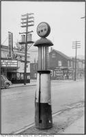 Historic photo from Saturday, March 28, 1942 - Duchess Theatre (then the Centre Theatre) across the street from gasoline pump in front of 783 Dundas West in Little Italy (College St)