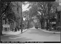 Historic photo from Tuesday, June 13, 1944 - Harbord Street - re widening - from St. George Street in University of Toronto (U of T)