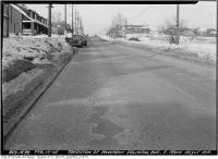 Historic photo from Saturday, February 17, 1945 - Eglinton Avenue east from Hoyle Avenue - condition of pavement in Davisville Village