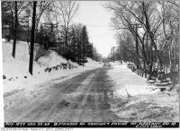 Historic photo from Tuesday, January 22, 1946 - Blythwood Road grading and paving - looking west up the hill to Mount Pleasant in Sherwood Park