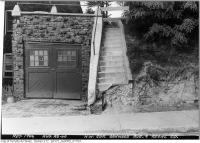 Historic photo from Thursday, August 29, 1946 - Northwest corner Oakwood Avenue and Regal Road - steps washed away in Regal Heights