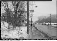 Historic photo from Wednesday, January 15, 1947 - Lawrence Avenue, 150 feet west of Yonge looking East in Lawrence Park