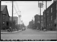 Historic photo from Wednesday, April 7, 1948 - Carlaw Avenue - widening in Leslieville