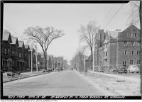 Historic photo from Wednesday, April 7, 1948 - St. George Street widening - north from Russell in University of Toronto (U of T)