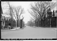 Historic photo from Wednesday, April 7, 1948 - St. George Street trees cut for widening - North from Harbord in University of Toronto (U of T)