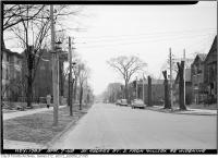 Historic photo from Wednesday, April 7, 1948 - Trees cut along St. George Street widening - south from Willcox in University of Toronto (U of T)