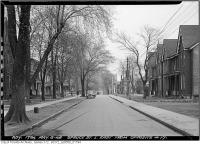 Historic photo from Thursday, May 6, 1948 - 17 Spruce Street looking east before widening in Riverdale
