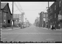 Historic photo from Friday, November 5, 1948 - Carlaw Avenue after widening north from Queen in Leslieville