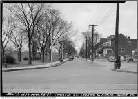 Historic photo from Monday, March 28, 1949 - Christie Street, north from Bloor Street in Seaton Village