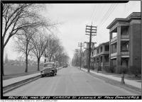 Historic photo from Monday, March 28, 1949 - 23 Christie Street with Christie Pits to the left in Seaton Village