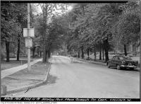 Historic photo from Tuesday, July 12, 1949 - Hoskin Avenue looking west from Queen in University of Toronto (U of T)