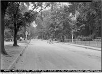 Historic photo from Tuesday, July 12, 1949 - Hoskin Avenue looking west from opposite entrance Wycliffe College in University of Toronto (U of T)