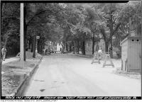Historic photo from Tuesday, July 12, 1949 - Hoskin Avenue looking west from east side of Devonshire Place in University of Toronto (U of T)