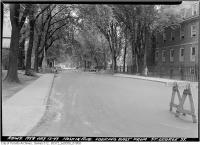 Historic photo from Tuesday, July 12, 1949 - Hoskin Avenue looking east from St. George Street in University of Toronto (U of T)