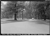Historic photo from Tuesday, July 12, 1949 - Queens Park Crescent looking southwest from Avenue Road in Queens Park