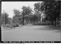 Historic photo from Tuesday, July 12, 1949 - Queens Park Crescent south from Hoskin Avenue in Queens Park