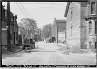 Historic photo from Monday, August 22, 1949 - Dalhousie Street looking north from Gould Street in Ryerson