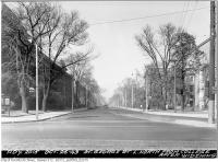 Historic photo from Wednesday, October 26, 1949 - St. George Street, looking north from College after widening in University of Toronto (U of T)