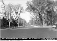 Historic photo from Wednesday, October 26, 1949 - St. George Street looking north from Harbord in University of Toronto (U of T)
