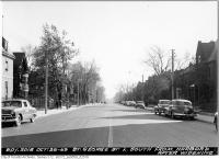 Historic photo from Wednesday, October 26, 1949 - St. George Street looking south from Harbord in University of Toronto (U of T)