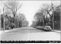 Historic photo from Tuesday, October 25, 1949 - St. George Street looking south below Bloor Street in University of Toronto (U of T)
