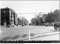 Historic photo from Wednesday, October 26, 1949 - St. George Street looking south from Bloor Street in University of Toronto (U of T)