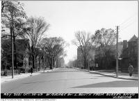 Historic photo from Thursday, October 27, 1949 - St. George Street looking south from Sussex in University of Toronto (U of T)