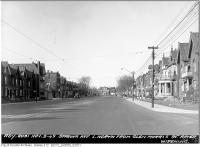 Historic photo from Wednesday, November 9, 1949 - Spadina Avenue looking north from Glen Morris Street in Huron Sussex