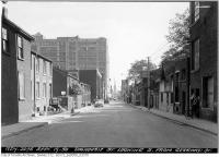 Historic photo from Tuesday, September 19, 1950 - Dalhousie Street looking south from Gerrard after widening in Ryerson