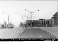 Historic photo from Thursday, March 8, 1951 - Lakeshore Boulevard looking southwest from east of Strachan Avenue in CNE