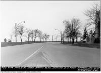 Historic photo from Thursday, March 8, 1951 - Lakeshore Boulevard looking southwest from west of Strachan Avenue in CNE