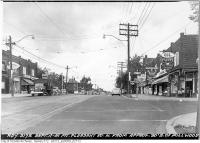 Historic photo from Tuesday, September 11, 1951 - Mt. Pleasant Road north from Millwood - Bill Jackson Hardware in Davisville Village