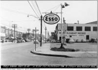 Historic photo from Tuesday, October 2, 1951 - Imperial Esso gas station and Mnt Plsnt Motors - Mt. Pleasant Road, south from Hillsdale Avenue in Davisville Village
