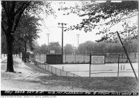 Historic photo from Tuesday, October 2, 1951 - Davisville Tennis Club - West side, Mt. Pleasant, south from Millwood Road in Davisville Village